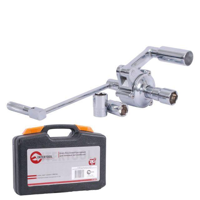 Ключ баллонный роторный для легковых автомобилей INTERTOOL XT-0003