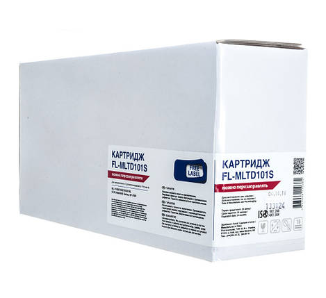 Картридж Samsung MLT-D101S, Black, ML-2160/2165/2168, SCX-3400/3405, SF-760P, 1,5k, Free Label (FL-MLTD101S), фото 2