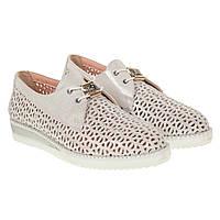 937e5fd90 Туфли женские Destino Style (кожаные, с перфорацией, на шнурках, удобные) 34