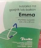 Сушка большая навесная Emma Feniks (Феникс Эмма), батарея, балкон, ванна, фото 3
