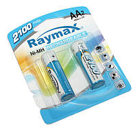 Аккумулятор AA, 2100 mAh, Raymax, 2 шт, 1.2V, Blister, перезаряжаемая батарейка