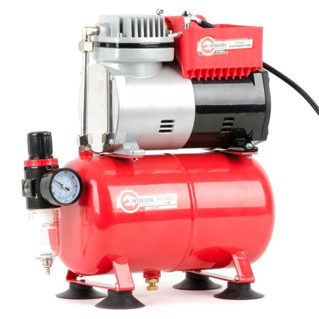 Компресор безмастильний 4 л, 0,3 кВт, 220 В, 3,2атм, 50л / хв INTERTOOL PT-0001