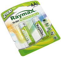 Аккумулятор AA, 2500 mAh, Raymax, 2 шт, 1.2V, Blister, перезаряжаемая батарейка