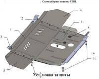 Металлическая (стальная) защита двигателя (картера) Alfa Romeo GT (2004-2010) (V-1,6; 2,0; 1,9TD;)