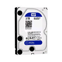 "Жесткий диск для компьютера 3.5"" 3 Тб/Tb Western Digital Blue, SATA3, 64Mb, 5400 rpm (WD30EZRZ), винчестер hdd"