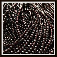 Бусины шар 4 мм цвет натуральный гранат (205-215 шт в нитке)