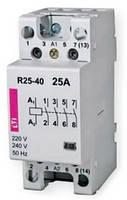 Контакторы модульные R25-40 230V, 25A, 4Н.О, АС/DC