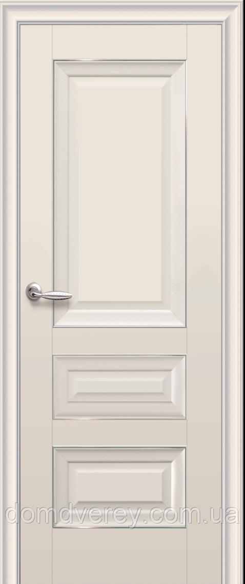 Двери межкомнатные Новый Стиль, Элегант, модель Статус, глухое с молдингом