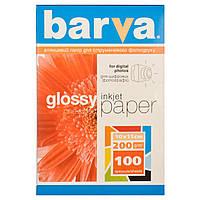 Фотобумага Barva, глянцевая, односторонняя, A6 (10x15), 200 г/м2, 100 л (IP-C200-125)