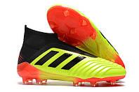 Футбольные бутсы adidas Predator 18+ FG Solar Yellow/Core Black/Solar Red, фото 1