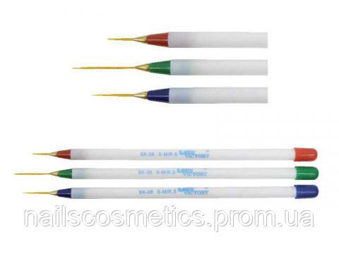 Кисть волосок белая ручка #00; #000 (60)