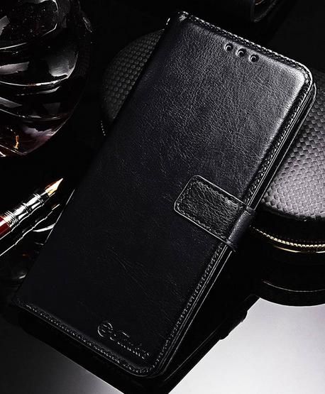Кожаный чехол-книжка для Xiaomi Redmi S2 черный