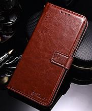 Кожаный чехол-книжка для Xiaomi Redmi S2 коричневый