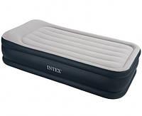 Надувная кровать Intex 67732 (99х191х48 см) встроенный комперессор.
