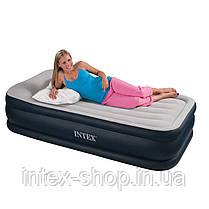 Надувная кровать Intex 67732 (99х191х48 см) встроенный комперессор., фото 2
