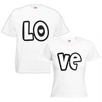 """Парная футболка """"Love 2"""""""