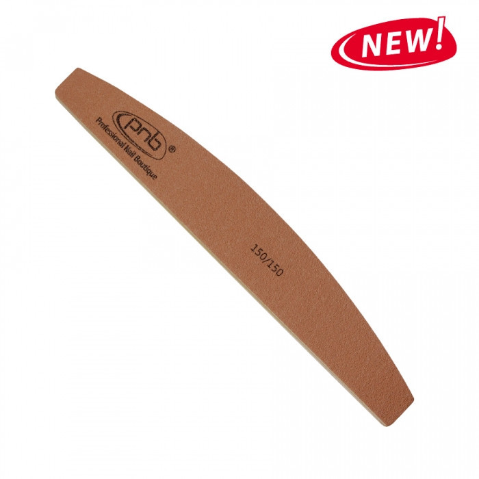 Пилка для ногтей PNB 150/150 Gold Brown, полукруг
