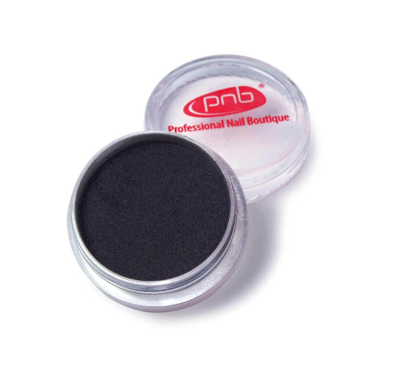 Цветная акриловая пудра PNB 06, черная, 2г
