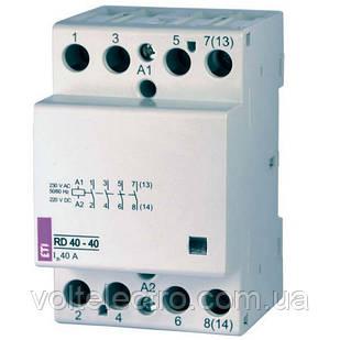 Контакторы модульные RD40-40 230V, 40A, 4Н.О, АС/DC