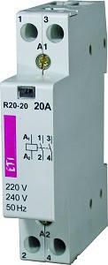 Контакторы модульные RD20-20 230V, 20A, 2Н.О, АС/DC