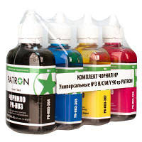 Комплект чернил Barva HP Universal №3, 4 x 90 г (I-BAR-HU3-090-MP), краска для принтера нр