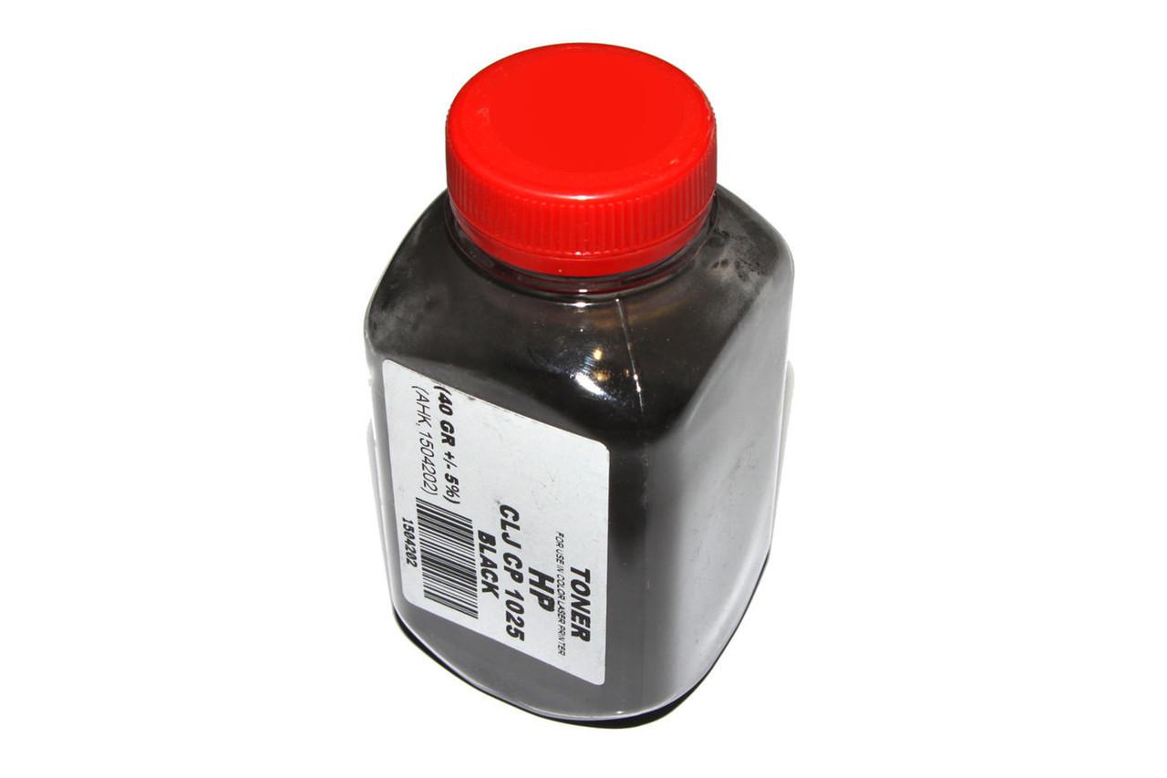 Тонер HP CLJ CP1025, M175/275, Canon LBP-7010K/7018K, Black, 40 г, AHK (1504202)