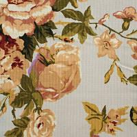 Портьера Французская роза, цветы на кофейном фоне