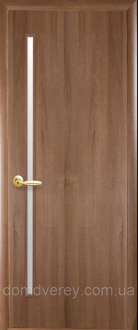 Двери межкомнатные Новый Стиль, КВАДРА, модель Герда ПВХ, со стеклом сатин