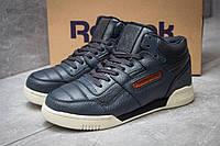 Зимние кроссовки на меху в стиле Reebok Classic, темно-синий (30312),  [  42 43 45 46  ]