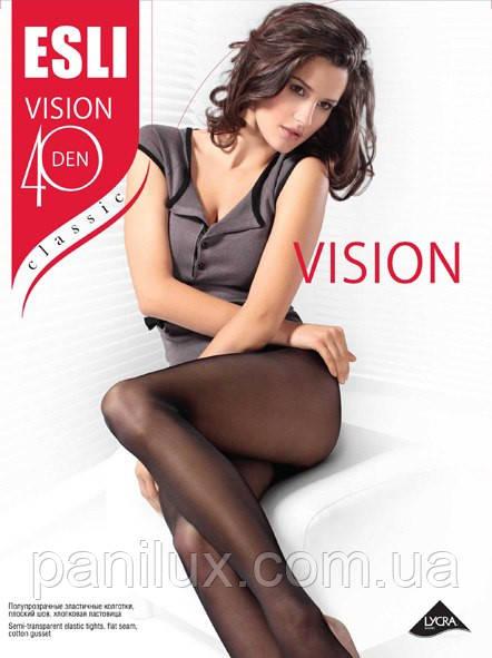 Колготки женские  полиамидные (капроновые) ТМ Esli Vision 40 Den 2-4 р.