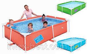 Детский каркасный бассейн Bestway 56222 Зелёный, размер 300 х 201 х 66 см