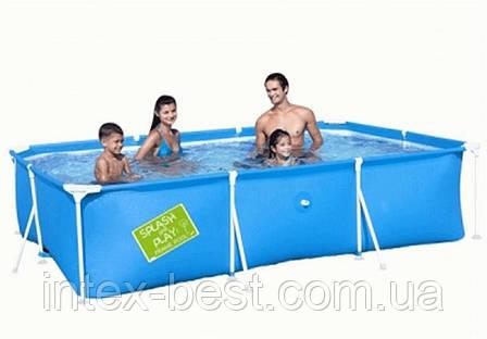 Детский каркасный бассейн Bestway 56222 Зелёный, размер 300 х 201 х 66 см, фото 2