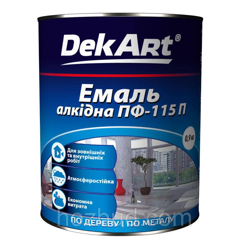 Эмаль ПФ-115П Dekart красная 0,9кг