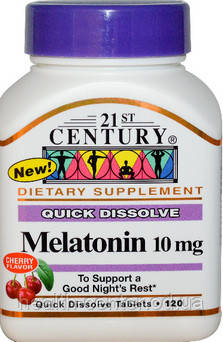 Мелатонин 10 мг 120 таб снотворное,  антиоксидант ноотроп адаптоген 21-й век США