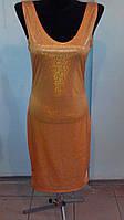 Нарядное желто-горчичное платье с блестками
