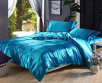 Комплект постельного белья Атласное бирюзовое