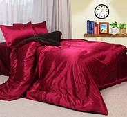 Комплект постельного белья Атласное бордовое