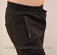 Брюки спортивные мужские зимние - 3 кармана в сером цвете, фото 3