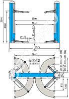 Подъемник для сто, двухстоечный, PEAK 208.Продаём подъёмники для СТО., Львов