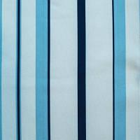Портьера, полоска голубая с бежевым
