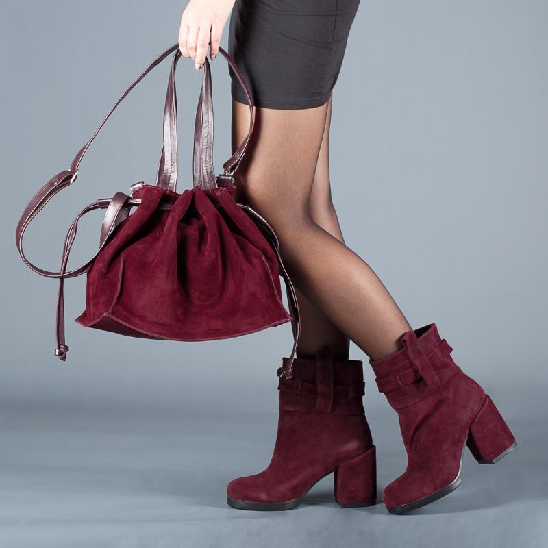 Ботинки женские замшевые на каблуке Размеры 36-40
