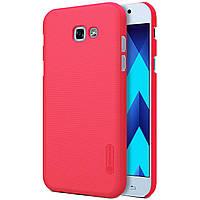 Чехол Nillkin Matte для Samsung A520 Galaxy A5 (2017) (+ пленка) Красный
