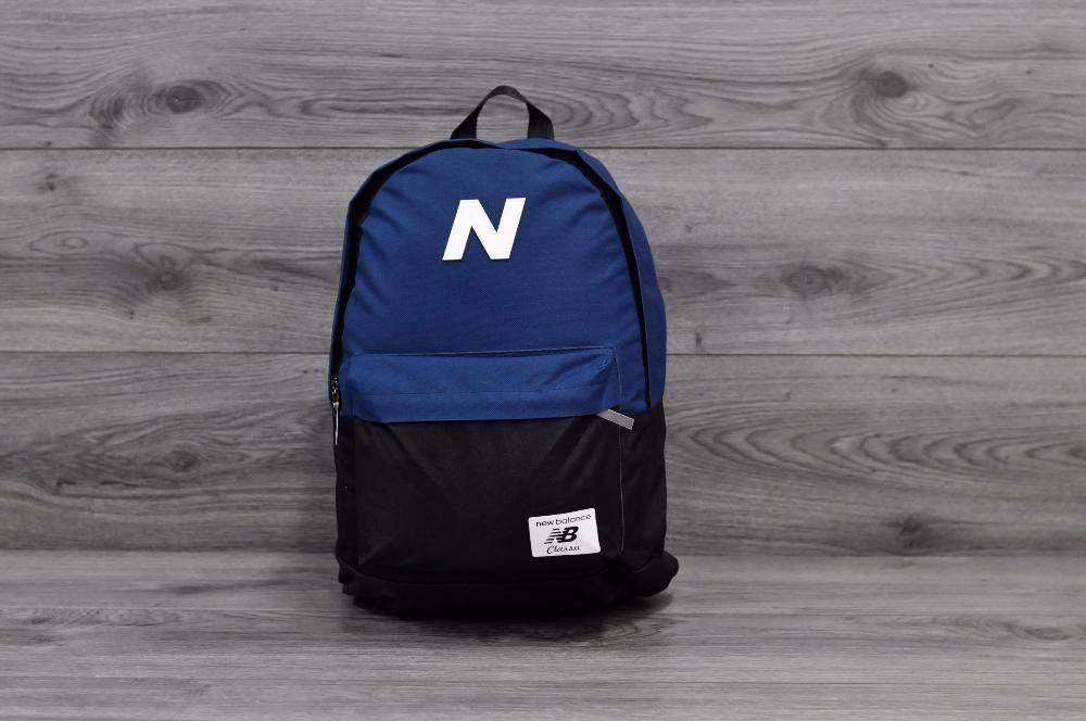 Рюкзак спортивный в стиле New Balance синий с черным