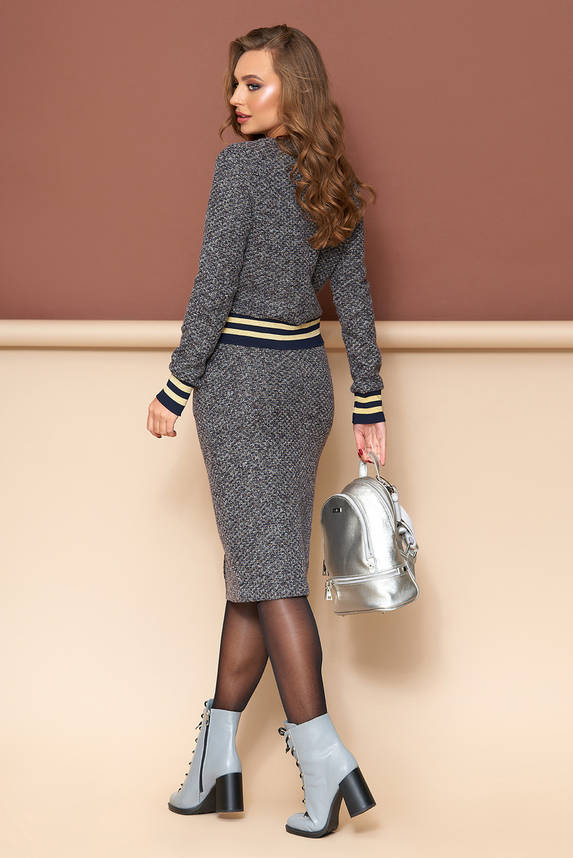 Женский трикотажный костюм с юбкой , фото 2