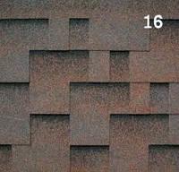 Гибкая черепица РуфШилд (RoofShield) Модерн Коричневый с оттенением