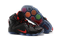 Кроссовки Nike LeBron 12 Black and Red