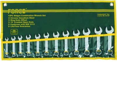 Набор рожково-накидных укороченных ключей 8-19мм.12ед. FORCE 51214P