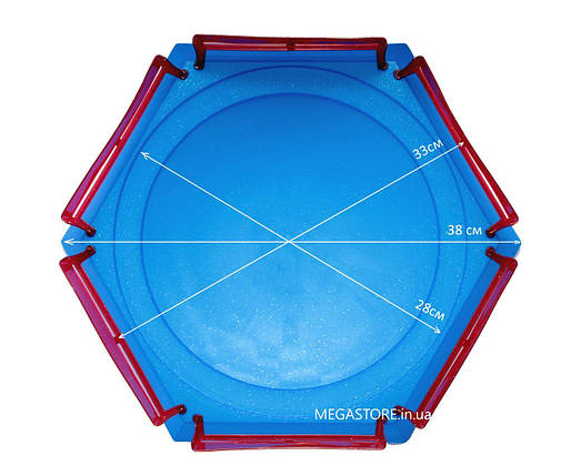 Арена Бейблэйд (Бейблейд) Arena Beyblade Burst Combat Gyro Disk Синяя, фото 2