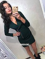 Платье мини на молнии, фото 1