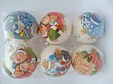 Новогодние украшения шары  декупаж блеск 10 см, фото 2